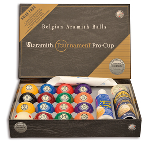 Pool-baller Aramith Tournament Pro Cup Value Pack